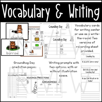 Groundhog Day Activities and Writing Prompts
