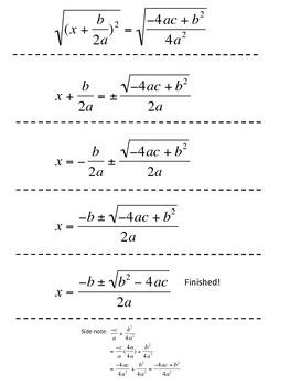 Quadratic formula - ** Group Activity**