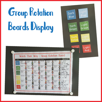 Group Rotation Boards for Words Their Way (Superhero)