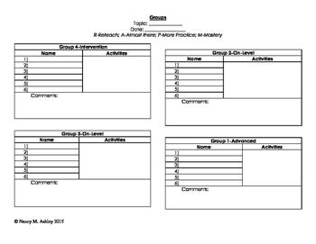 Group Activity Sheet