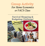 Group Activity - Survival Shopping, Budgeting Lesson for FACS, Home Economics