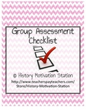 Group Assessment Checklist