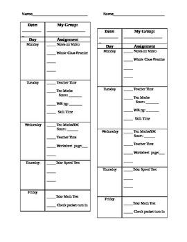 Group Assignment Sheet