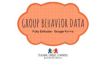 Group Behavior Data (Editable Google Form)