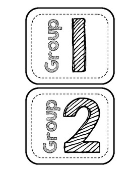 Group Cards (black and white)