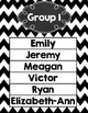 Group Center Signs Black Chevron (editable)