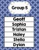 Group Center Signs Blue Quatrefoil (editable)