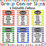 Group Center Signs Rainbow Chevron (editable)