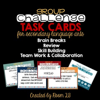 Group Challenge Task Cards