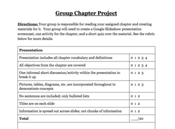 Group Chapter Project