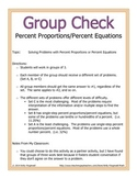 Group Check: Percent Applications - Percent Proportions/Pe