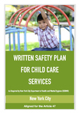 Group Child Care Service Written Safety Plan (NYC DOHMH -