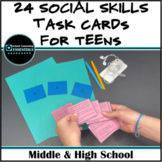Group Counseling Activity- Social Scenario Task Cards for Middle & High School