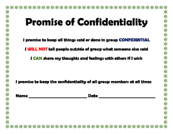 Group Counseling Confidentiality Agreement