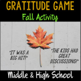 """Group Counseling """"Gratitude Game"""" for Thanksgiving- Middle & High School"""