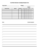 Group Counseling Particiapation Form