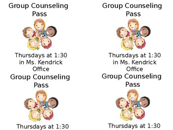 Group Counseling Pass