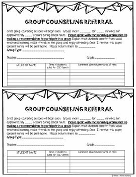 Group Counseling Referral EDITABLE form