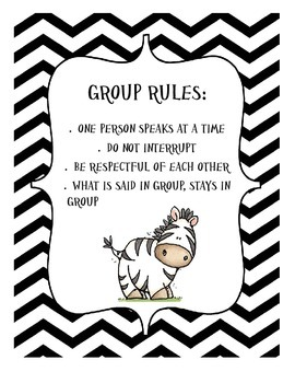 Group Counseling Rules Sign