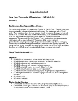 Group Counseling Template: Understanding Anger Management
