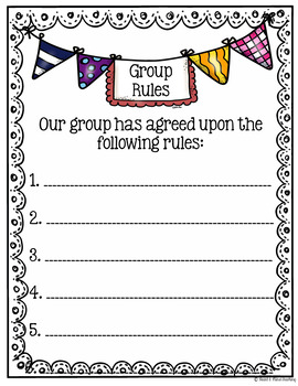 Group Counseling group rules template FREE