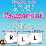 Group Creation Deck of Cards