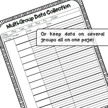 Group Data Collection & Attendance Forms