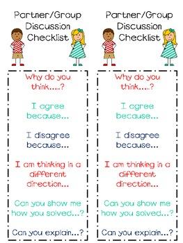 Group Discussion Checklist Freebie!