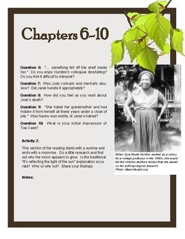 Novel Study: Their Eyes Were Watching God by Zora Neale Hurston