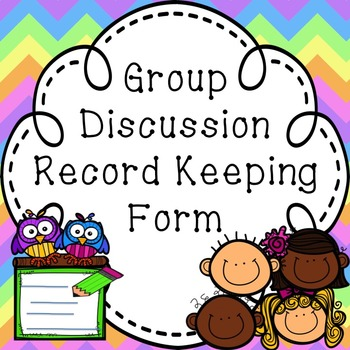 Group Discussion Record Keeping Form