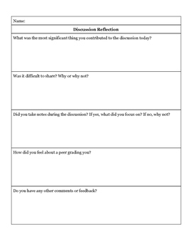Group Discussion Rubric & Reflection