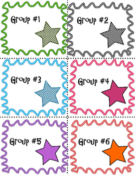 Group Number Signs