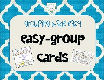 Group Easy Class Cards - Solve all Your Grouping Problems!