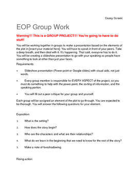 Group Elements of Plot Project