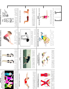 Group Exercise Routine Worksheet