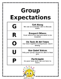 Group Expectation Poster