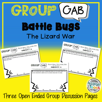 Group Gab Comprehension - Battle Bugs: Lizard War