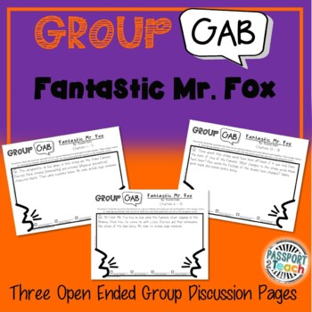 Group Gab Comprehension - Fantastic Mr. Fox