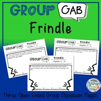 Group Gab Comprehension - Frindle