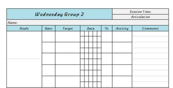 Group: Goals + Data Collection Sheet- Editable