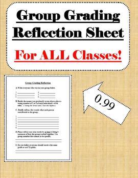 Group Grading Reflection Sheet