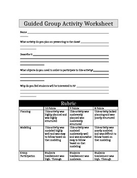 Group Guided Activity