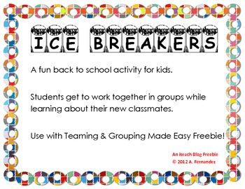 Group Ice Breaker