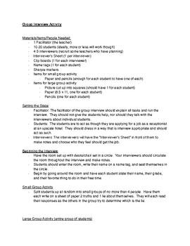 Group Interview Mini Lesson