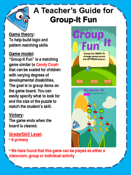 Group It Fun - grouping and pattern matching app