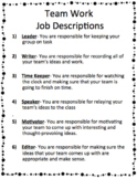 Group Job Descriptions