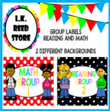 Group Labels (Reading and Math) Bulletin Board/ Posters