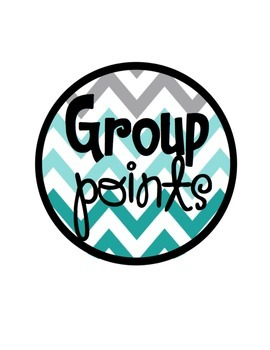 Group Labels Teal Chevron