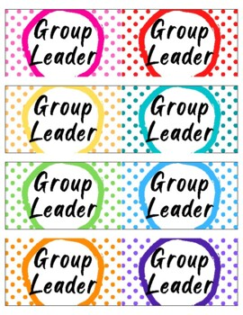 Group Leader Badges