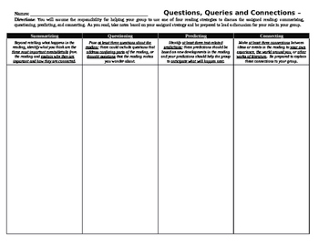 Group Literacy Graphic Organizer - Any text / Any Course